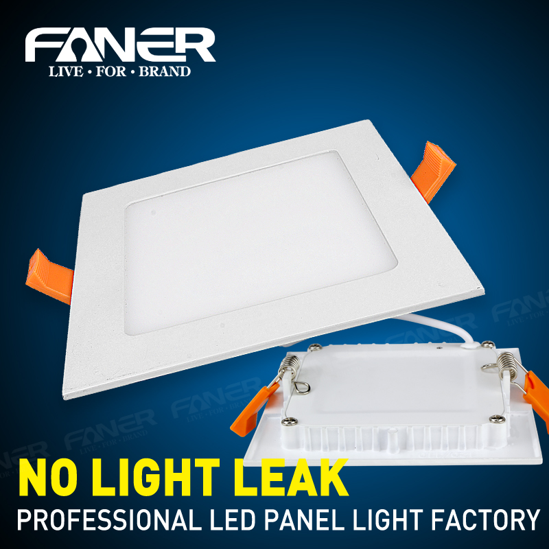 1X LED panel light AC 110/220v 6w 12w 18w Surface mounted downlight Square panel light SMD 2835 Ultra thin round Down lamp free