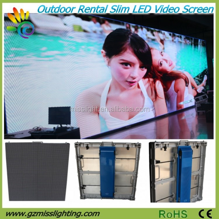 P6.67 Full Color Outdoor Advertising LED Video Wall Screen