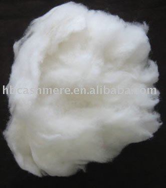 100% Dehaired cashmere/ Wool tops fibre