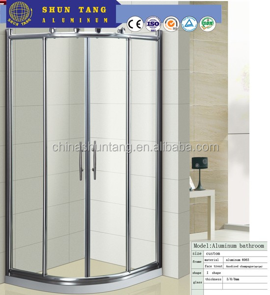 good quality main aluminium designs shower door frame parts