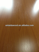 18mm double sided wood grain melamine laminated mdf board from Linyi