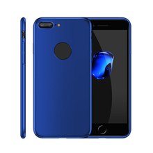 Hard plastic pc cover rubber cell phone case for iPhone 7 7plus