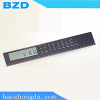 Multi-functional Clock Ruler Electronic Calculator Promotional Factories with Calendar & Alarm