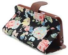 Beautifully painted floral holster for iphone 5s case