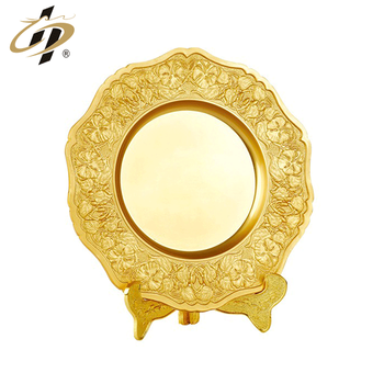 Die casting zinc alloy custom made own design gold metal plaque with stand