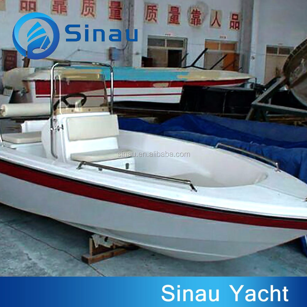 4 8 m small white frp fishing outboard motor boat for sale for Small fishing boats with motor
