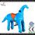 Mechnical, Plush Material Riding Animal, Dinosaur Type Ride for Kids and Adult