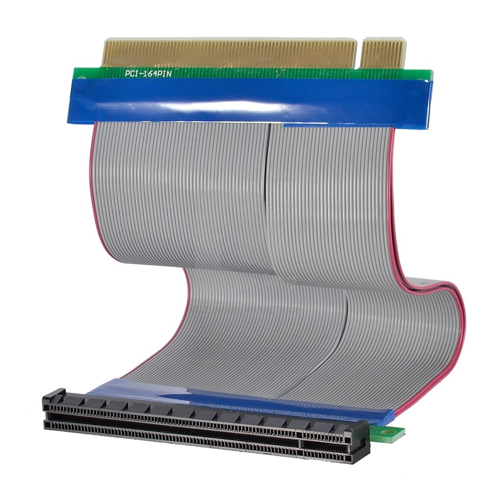 PCI-E 16X PCI-Express Riser Card Extender Cable Flexible Ribbon