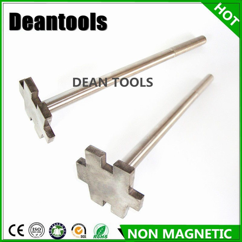 Non magnetic 304 stainless steel bung wrench 350mm Open barrels wrench