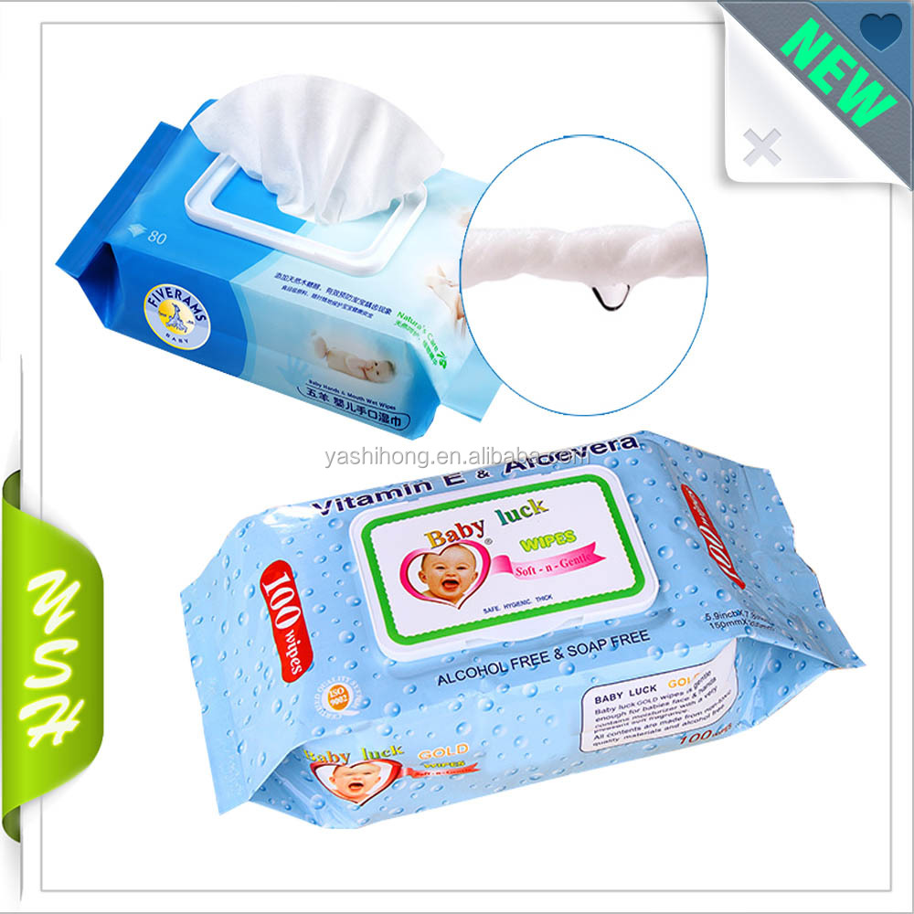 Baby wet wipes packaging pouch pillow plastic bag
