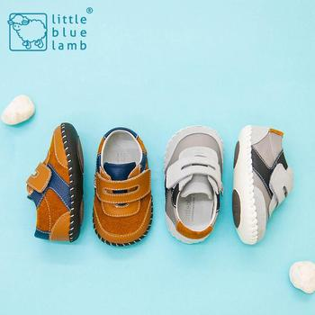 2016 littlebluelamb infant soft leather baby shoes toddler shoe with fashion design BB-A3121-BR