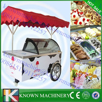 ice cream push carts/ popsicle cart/ce cream display carts with wheels