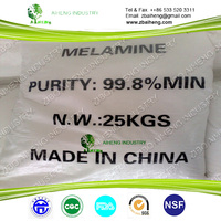 Decorate Material Cas No.108-78-1 Resin Price Shandong Melamine Powder Solubility