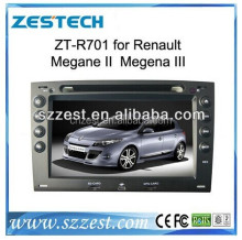 2 din car gps for Renault Megane 2/Megena III ZT-R701 touch screen 7 inch car dvd gps player with GPS DVD TV BT RDS OBD camera