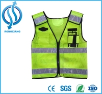 Chinese clothing manufacturers custom made reflective safety biker vest