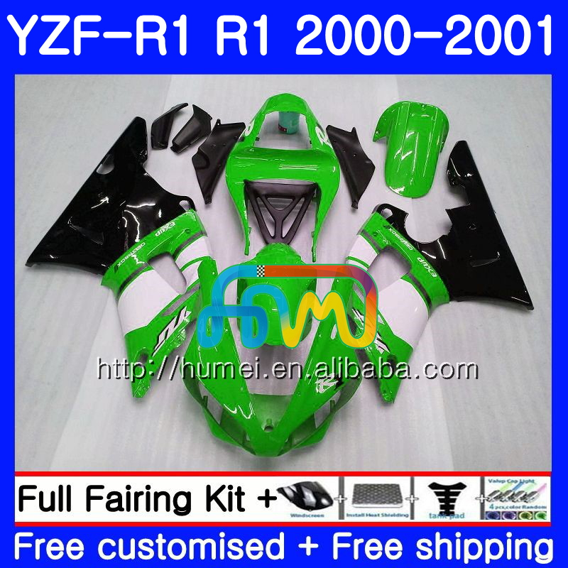 Bodywork For YAMAHA green black YZF 1000 YZF-<strong>R1</strong> 2000 <strong>2001</strong> Body 98HM39 YZF1000 YZF R 1 YZFR1 00 01 YZF-1000 YZF <strong>R1</strong> 00 01 <strong>Fairing</strong>