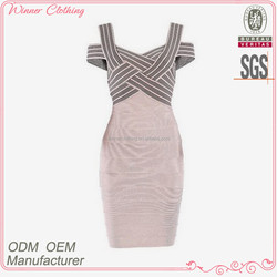 newest fashion dresses design wide strap crossed slim fit summer/casual wear ladies casual dresses