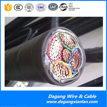 VDE 0271 Standard UG cable 600/1000v PVC insulation cable single layer galvanized steel wire armoured