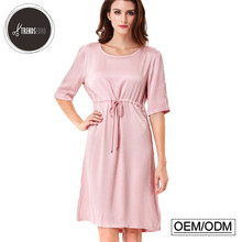 European design wholesales sexy nighty half sleeve women sleeping dress