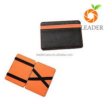 wholesale factory price colorful blocking magic wallet,genuine leather card holder