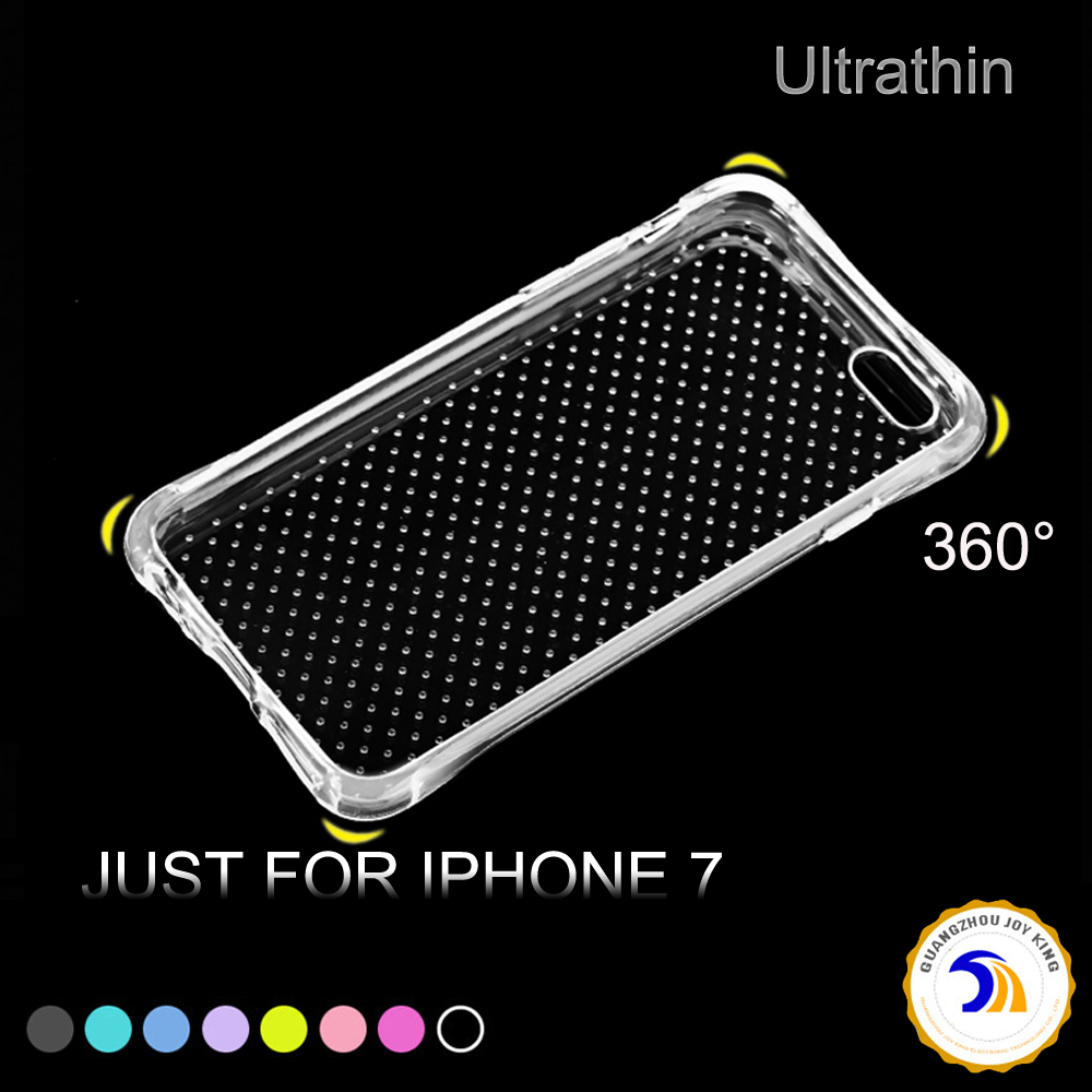 For iPhone 7 / 7 Plus mobile phone Ultra Thin Clear Crystal Rubber TPU Soft Case Cover