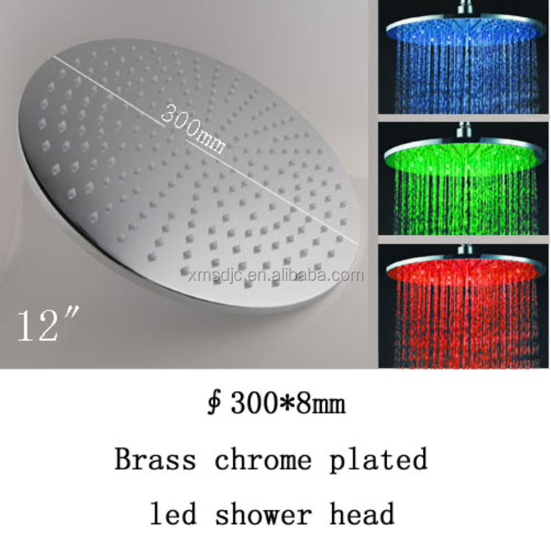 12 inch Brass Round Shape waterfall LED shower head