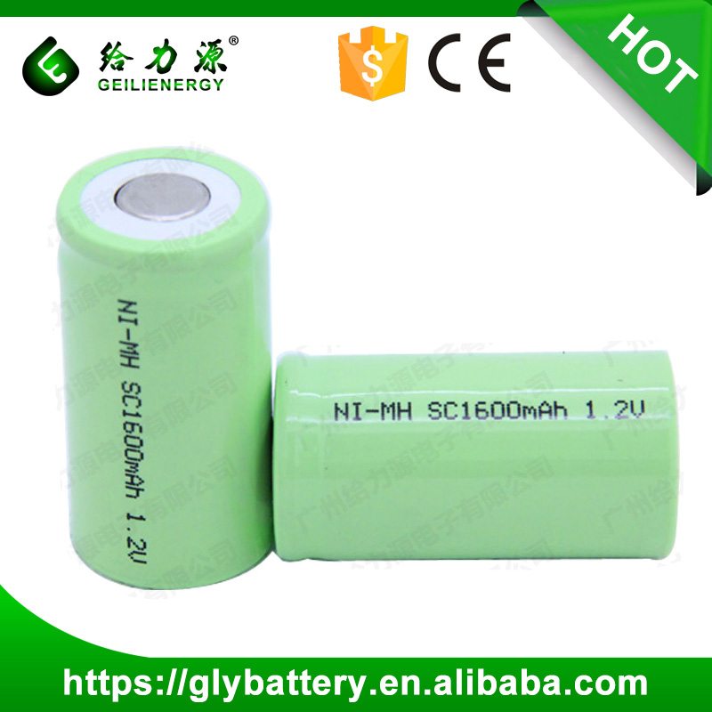 Rechargeable NIMH 1.2V SC 1600mAh Power Tool battery