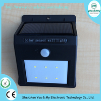Solar Power 6LED PIR Motion Sensor Garden Lamp Outdoor Waterproof Wall Light