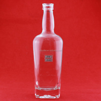 Cheapest medoffe vodka bottle glass vodka bottle empty bottle vodka