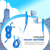 2014 new travel & sports plastic flat cable earphone by OEM factory