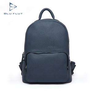 58027baa431b Selected Cowhide Leather Metal Logo Trendy Backpacks 2016