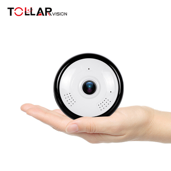 popular 2MP 360 degree VR panoramic motion detection alarm 2-ways audio TF card max.128GB mini hidden camera wifi