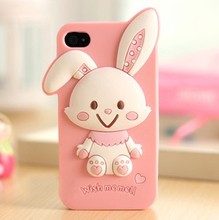 handmade jewelry make shockproof bunny diamond mobile phone case