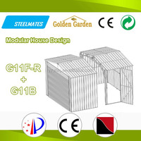 top selling germany style steel frame roof shed