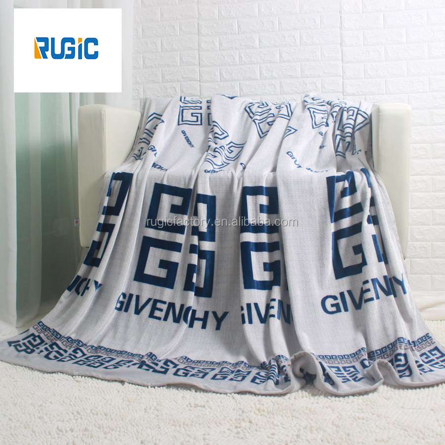 100% Cotton Thick King Queen Size Blankets Printing Warm Bed Sheet Flannel blanket