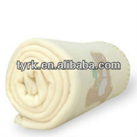 bear printed 100 polyester baby polar fleece comfortable soft cheap blanket