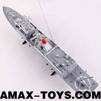 rs-0083831 ship rc 1:275 67cm Emulational Exquisite Remote Control Warship with Flashing Light