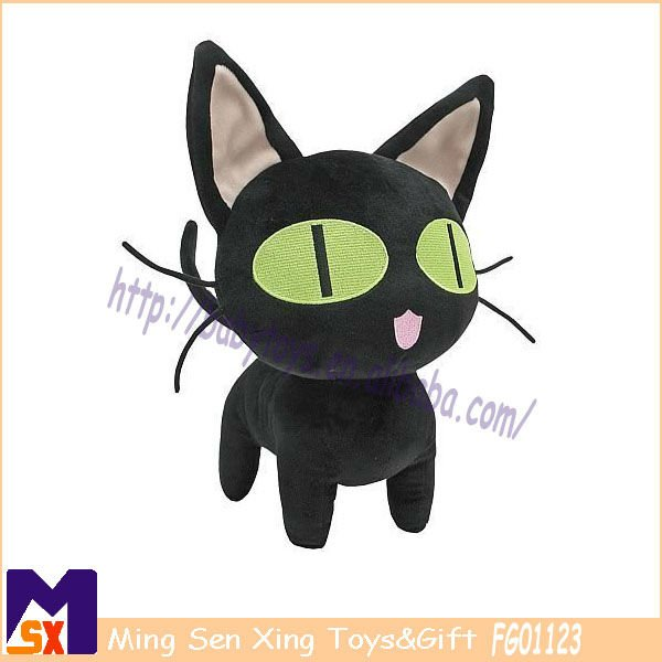 adorable mysterious black cat plush toy best halloween stuffed cat toys