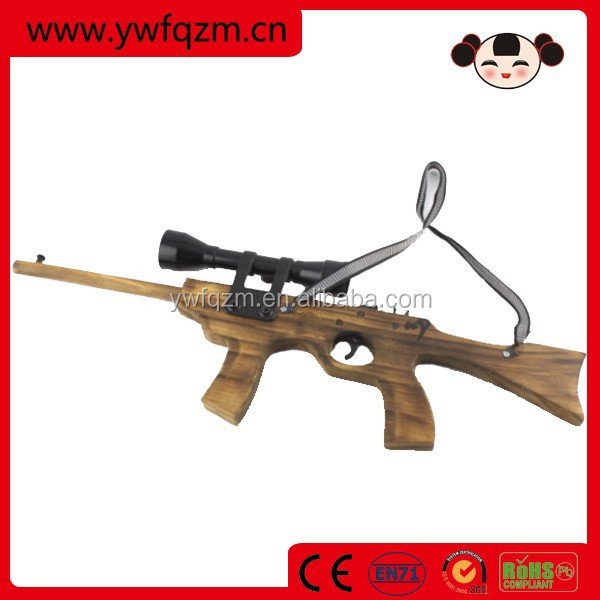 china child toy 32# wooden rubber band gun with telescope