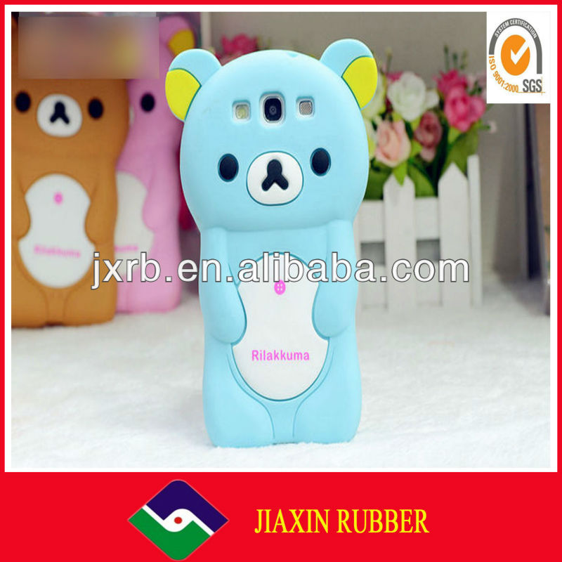 Silicone rubber animal shaped phone cases