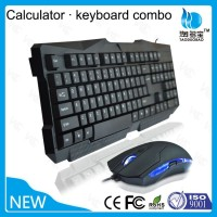 Affordable Wired 6D gaming keyboard and mouse combo