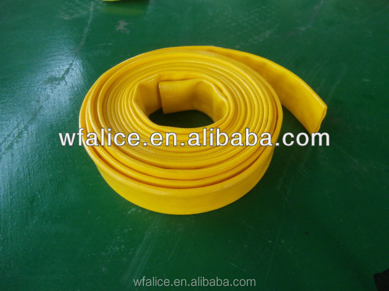 pvc layflat irrigation pipes for water well