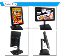 10inch restaurant table standing Android touch screen monitor
