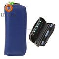 Hot sale PU leather wallet zipper electronic cigarette cases for ploom tech