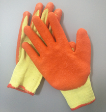 Industrial cheap crinkle latex coated safety gloves