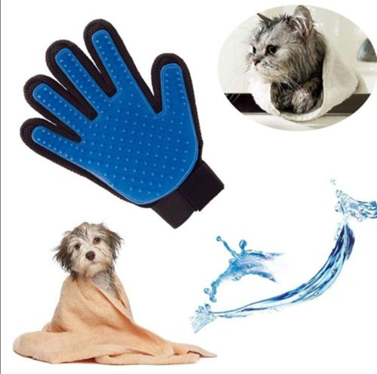 True Touch Finger Grooming Gloves <strong>Dog</strong> Deshedding Tool for <strong>Dogs</strong> and Cats