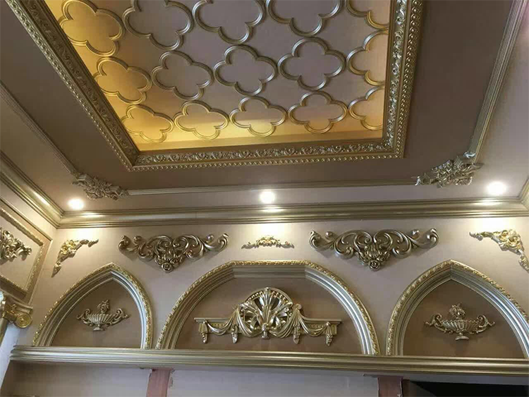 small frame moulding pu decorative cornices for home interior decoration