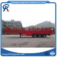 3 axles 40ton fence truck semi trailer for low price