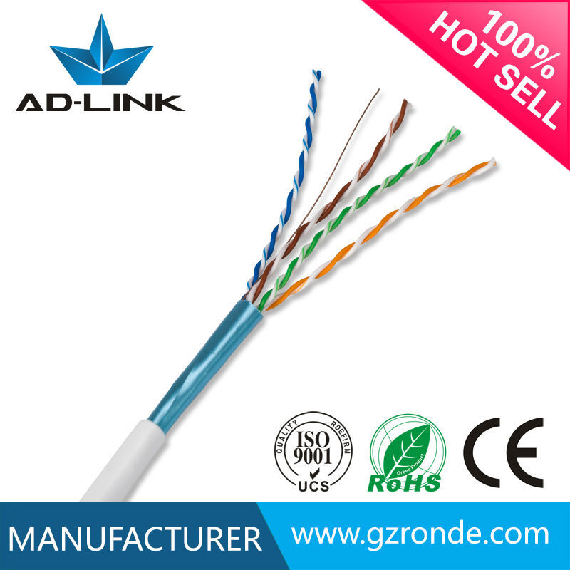 Customized 0.5mm copper FTP cat5e color code for lan cable
