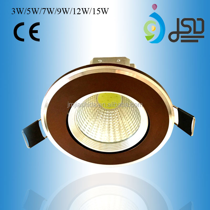 3W 5W 7W 9W 12W 15W Coffe Color <strong>Downlight</strong> with Quality Assurance CE RoHS Certificate for Apartment Villa Office Building